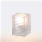 Sterno Square Glass Kelly Frost Lamp - 4 in.
