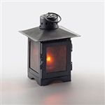 Sterno Brown Metal with Mica Panel Lantern Lamp - 6.5 in.