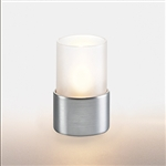 Sterno Petite Frost Cylinder Globe with Silver Base Lamp - 3.25 in.