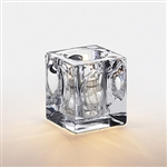 Sterno Presidio Small Square Glass Lamp Clear - 3.5 in.