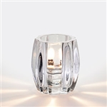 Sterno Round Clear Ribbed Glass Lamp - 4 in.