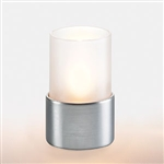 Sterno Frost Cylinder Globe with Silver Base Lamp - 4 in.