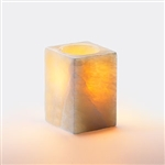 Sterno Square Small Alabaster Lamp - 3.5 in.