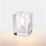 Sterno Frost and Clear Square Large Lamp - 3.75 in.