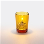 Sterno Petite Amber Tall Votive Glass Lamp - 3 in.