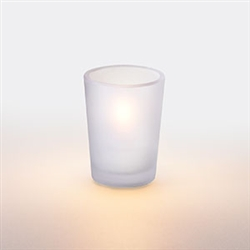 Sterno Petite Frost Tall Votive Glass Lamp - 3 in.