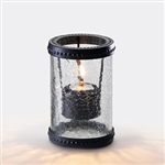 Sterno Crackle Glass with Basket Ring Clear Lamp - 5 in.