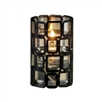 Sterno Black Square Metal Wire Frame Design Base Lamp - 4 in.