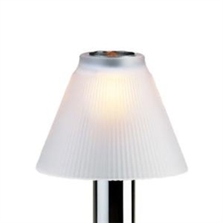 Sterno Frost Glass Pleated Shade Table Lamp
