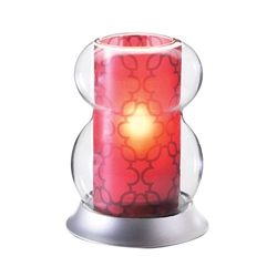 Sterno Interchangeable Red Shade Lamp
