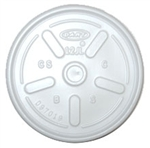 White Vented Plastic Specialty Lid for 12 oz. Foam Cups