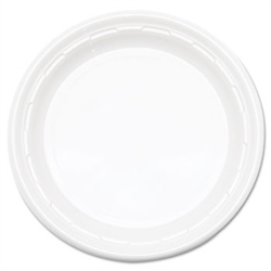 White Impact Plastic Plate - 6 in.