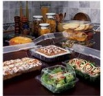 StayLock Clear Hinged-Lid Containers, 7.75in.Wx8.25in.Lx3in.H, Medium Hinged Lid, Clear