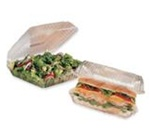 Showtime Hinged-Lid Containers, 5.63in.Wx6.13in.Lx3in.H, Pie Wedge, Clear