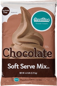 Precision Foods Frostline Lactose Free Chocolate Soft Serve Mix 6 Lb.