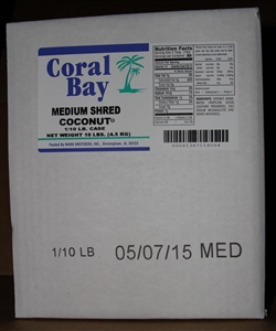 Marx Brothers Coral Bay 10 Pound Medium Shred Coconut