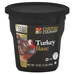 Custom Culinary Gold Label Turkey Base No Msg Added - 1 Lb.