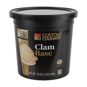 Custom Culinary Gold Label Clam Base No Msg Added - 1 Lb.