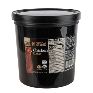 Custom Culinary Gold Label Chicken Base No Msg Added - 4 Lb.