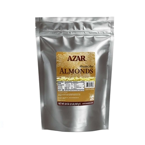 Azar Blanched Sliced 2 Pound Raw Almond