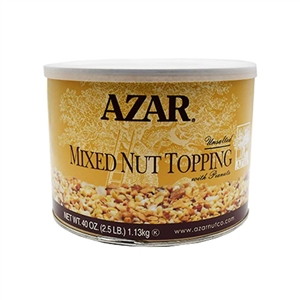 Azar Mixed Nut Topping with Peanut 2.5 Pound