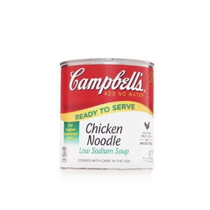 Campbell's Ready To Serve Low Sodium Chicken Noodle Soup 7.25 Oz.