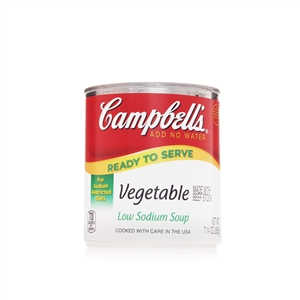 Campbell's Ready To Serve Low Sodium Vegetable Soup 7.25 Oz.