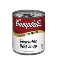 Campbell's Ready To Serve Easy Open Vegetable Beef Soup 7.25 Oz.