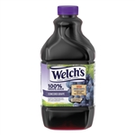 Welchs 100 Percentage Plastic Fluid Purple Grape Juice - 64 Oz.