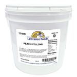 Lawrence Foods Whole Peach Fruit Fillings - 19 Lb.