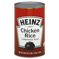 Heinz Chicken Rice Condensed Soup - 49.5 oz. - 12 per case