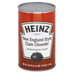 Heinz New England Clam Chowder Condensed Soup - 49.75 oz. - 12 per case