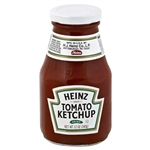 Wide Mouth Glass Ketchup - 12 Oz.