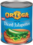 B and G Foods Ortega Diced 26 oz. Jalapeno Peppers
