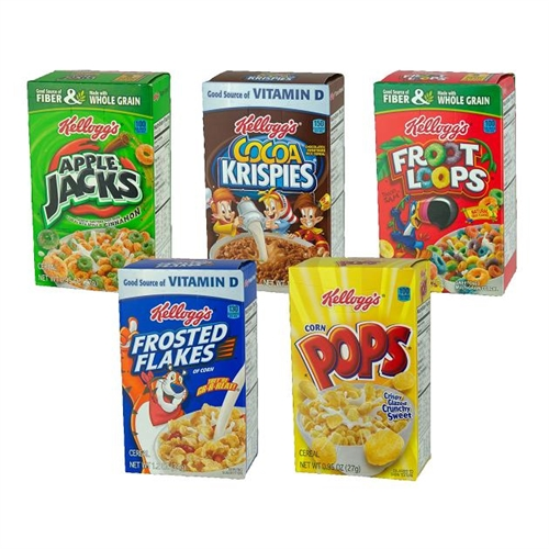 Kelloggs Cereal Assorted Fun Pack Individual Pack 4040 Oz Stunning Kellogg's Cereal Display Stand