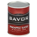 Pineapple Sliced In Juice Savor - 20 Oz.
