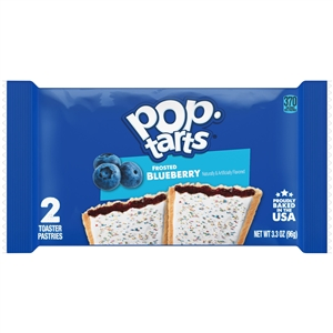 Pop Tarts Frosted Blueberry Microwaveable Display Pouch - 3.67 Oz.