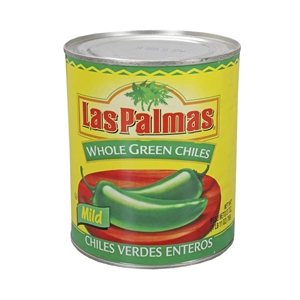 B and G Foods Las Palmas 27 oz. Whole Green Chilies