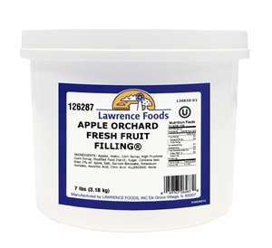 Lawrence Foods Whole Deluxe Apple Filling - 0.75 Gal.