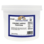 Lawrence Foods Chunky Dessert Apple Toppings - 0.75 Gal.