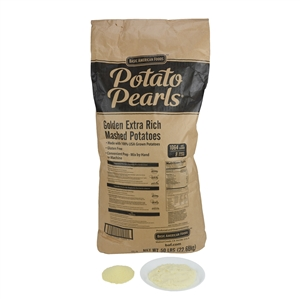 Basic American Potato Pearls Golden Extra Rich 50 Pouch Mashed Potato