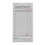National Checking Guest Check Shrink Pack Pink - 3.5 in. x 6.75 in.