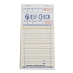 National Checking Guest Check Carbonless Paper Salmon 16 Lines - 3.5 in. x 6.75 in.