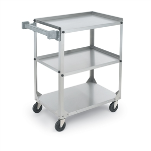 Vollrath Stainless Steel 3 Shelf Utility Cart - 300 Lb.