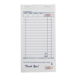 National Checking Guest Check Paper White 1 Part