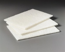 3M Scotch-Brite Light Duty 6 in. x 9 in. White Cleansing Pad