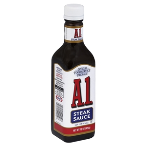 a 1 steak sauce by kraft foods A1 steak sauce, 33 oz (935 g), kraft foods, a1 steak sauce - the only one served in 9 out of 10 steakhouses net wt 33 oz (2 lb 1 oz) 935 g this classic.