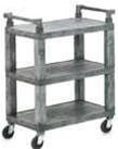 Vollrath Three Shelf Plastic Open Utility Cart