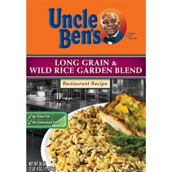Mars Foodservice Uncle Bens Long Grain Wild Garden Rice 36 oz.