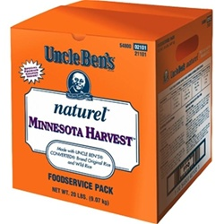 Mars Foodservice Uncle Bens Natural Minnesota Harvest Rice 20 lb.